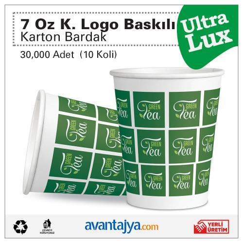7 Oz Kurumsal 4 Renk Logo Baskılı Deluxe Karton Bardak 30000 Adet (10 Koli)