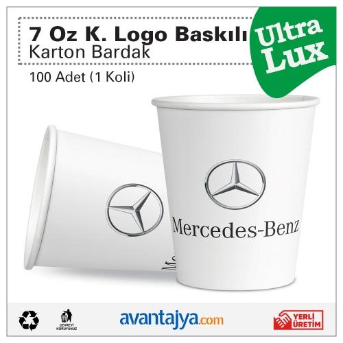7 Oz Kurumsal 4 Renk Logo Baskılı Deluxe Karton Bardak 100 Adet (1 Koli)