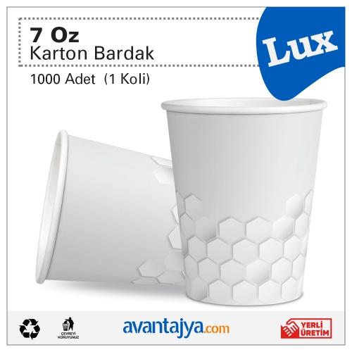 7 Oz Lux Karton Bardak 1000 Adet (1 Koli)