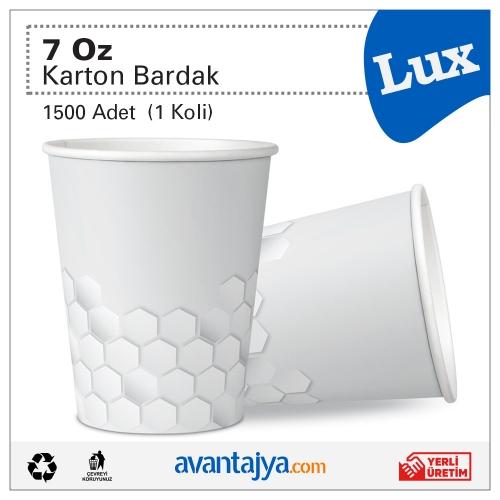 7 Oz Lux Karton Bardak 1500 Adet (1 Koli)